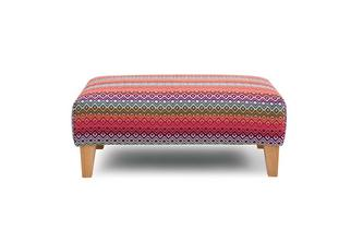 Pattern Banquette Footstool Tiki Scatter