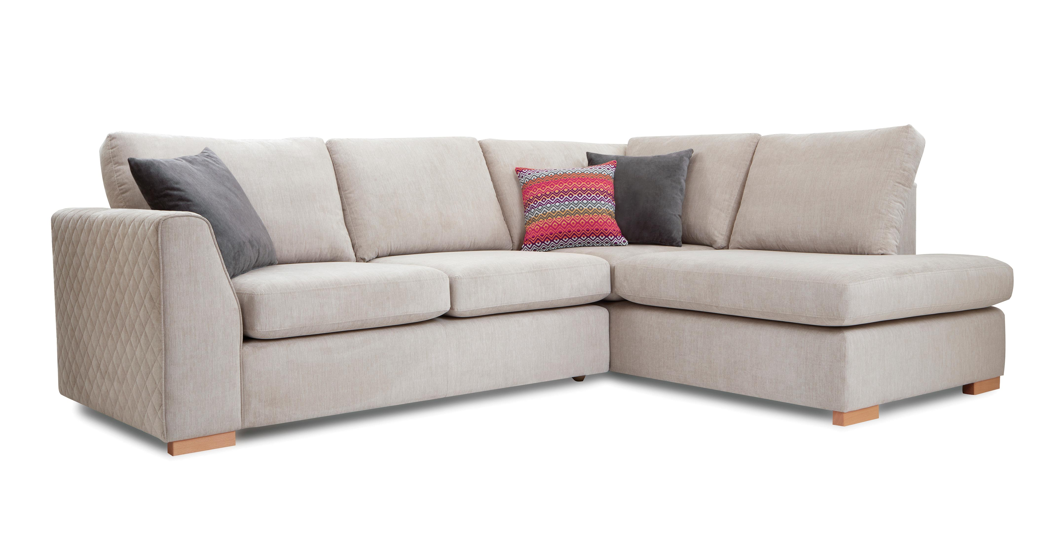 Tiki left hand facing arm open end corner sofa sherbet dfs for Sofa with only one arm