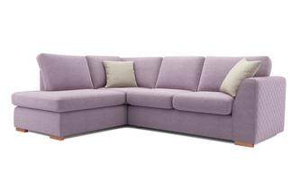 Tiki Right Hand Facing Arm Open End Corner Sofa Sherbet