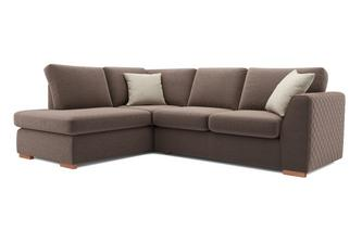 Tiki Right Hand Facing Arm Open End Deluxe Corner Sofa Bed Sherbet