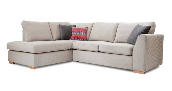 Tiki Right Hand Facing Arm Open End Deluxe Corner Sofa Bed