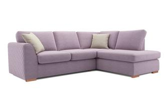Tiki Left Hand Facing Arm Open End Deluxe Corner Sofa Bed Sherbet