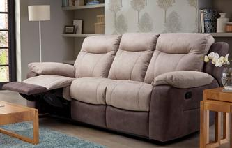 Tone 3 Seater Manual Recliner Arizona