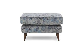Pattern Rectangular Footstool Topaz