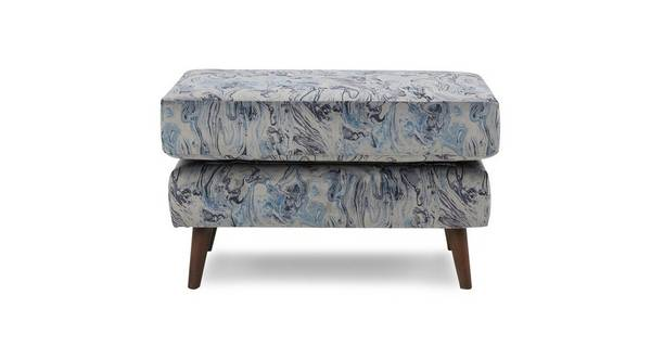 Topaz Pattern Rectangular Footstool