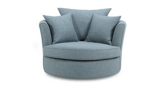 Topic Large Swivel Chair with Plain Scatters