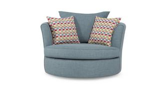 Topic Large Swivel Chair with Pattern Scatters