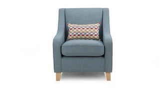 Topic Accent Chair with 1 Pattern Bolster