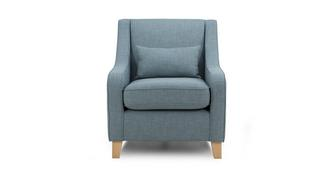 Topic Accent Chair with 1 Plain Bolster