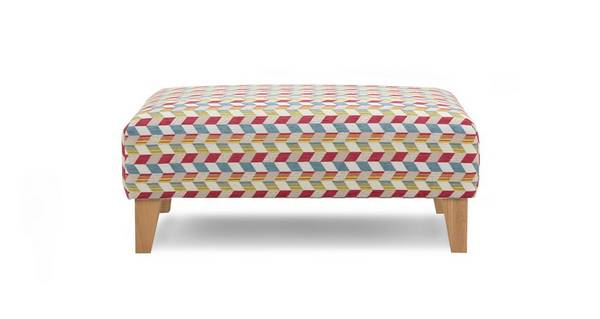 Topic Pattern Banquette Footstool