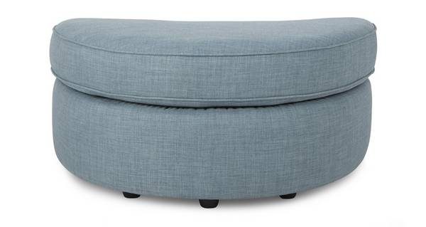 Topic Half Moon Footstool