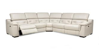 Torino Option C 2 Corner 2 Power Recliner Sofa