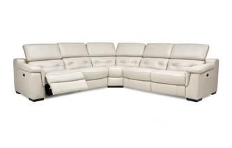 Option C 2 Corner 2 Power Recliner Sofa New Club