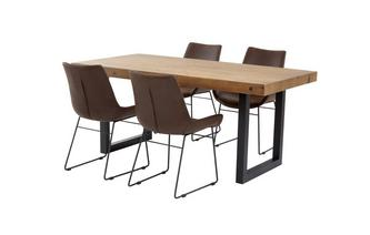 Fixed Top Table & Set of 4 Scoop Chairs