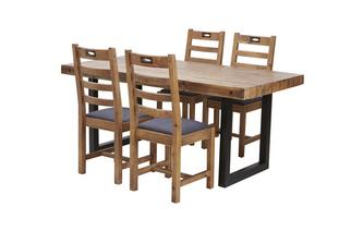 Fixed Table & Set of 4 Ottawa Chairs Tunis Chair