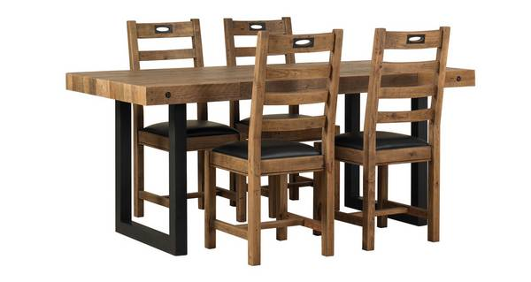 Toronto Fixed Table & Set of 4 Ladderback Chairs