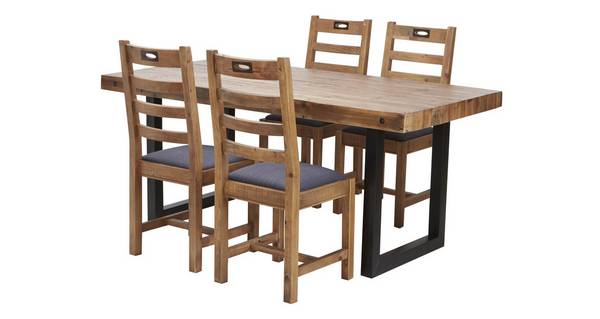 Toronto Large Fixed Table & Set of 4 Ottawa Chairs