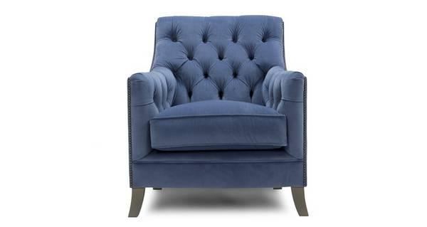 Trafalgar Velvet Accent Chair