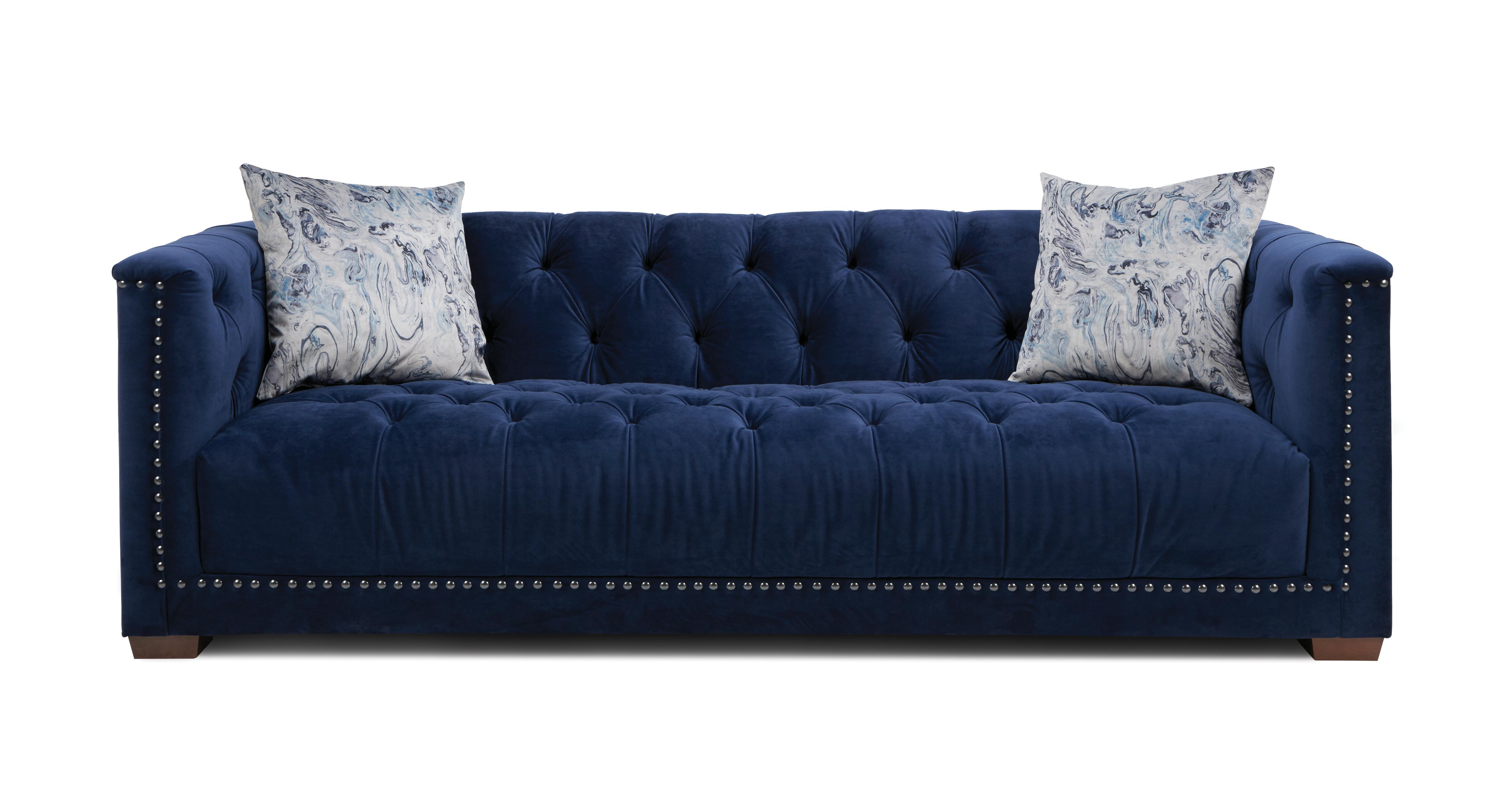 Trafalgar: Velvet 4 Seater Sofa