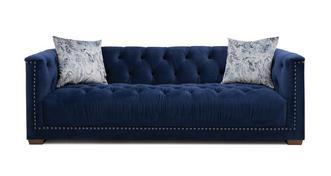 Trafalgar Velvet 4 Seater Sofa