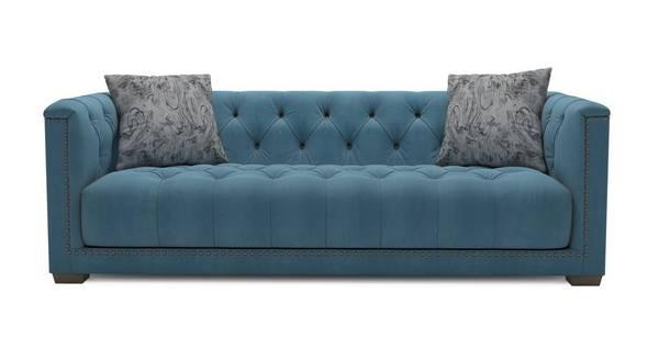 Trafalgar Velvet Grand Sofa