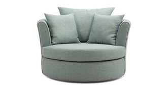 Trapeze Large Swivel Chair with 2 Plain Scatters