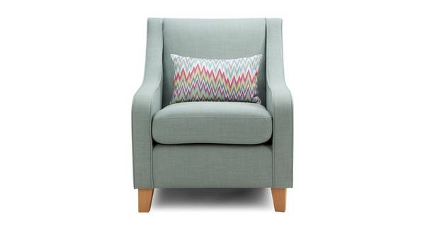 Trapeze Accent Chair with 1 Pattern Bolster