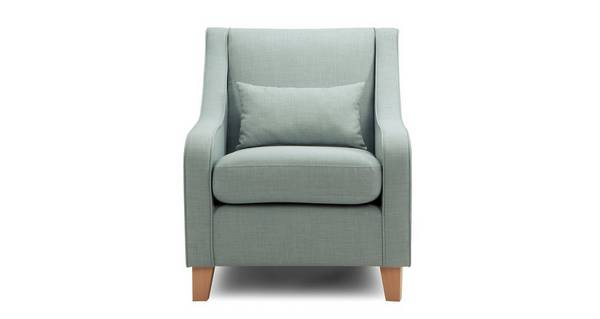Trapeze Accent Chair with 1 Plain Bolster