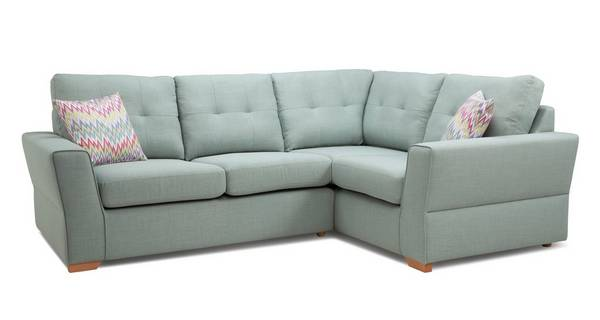 Trapeze Left Hand Facing 2 Seater Corner Sofa