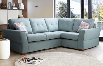 Trapeze Left Hand Facing 2 Seater Corner Sofa Revive