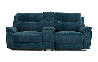 Velvet 3 Seater Power Recliner and Console