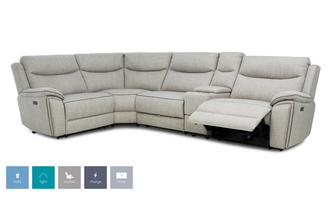 Right Hand Facing 2 Corner 1 Power Recliner and Console