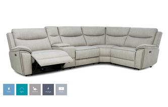 Left Hand Facing 2 Corner 1 Power Recliner and Console