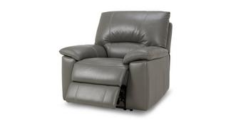 Trident Leather and Leather Look Manual Recliner Chair