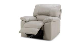 Trident Leder en lederlookHandbediende recliner stoel