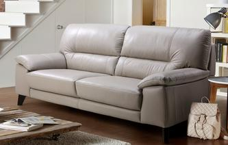 Trident Leather and Leather Look 3 Seater Sofa Premium