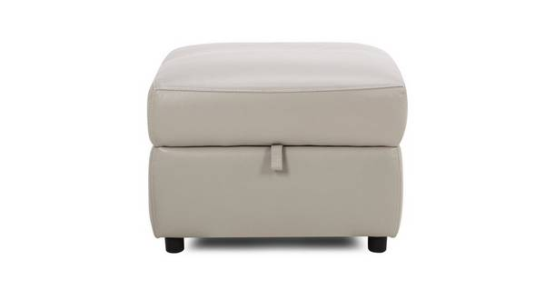 Trident Leather and Leather Look Storage Footstool
