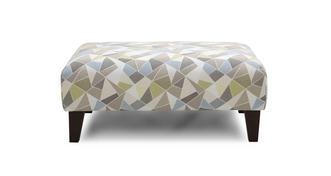 Trilogy Pattern Banquette Footstool