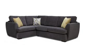 Right Hand Facing 2 Seater Corner Sofa Sherbet