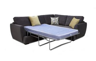 Left Hand Facing 2 Seater Deluxe Corner Sofa Bed Sherbet