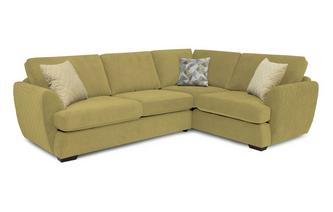 Trilogy Left Hand Facing 2 Seater Deluxe Corner Sofa Bed Sherbet