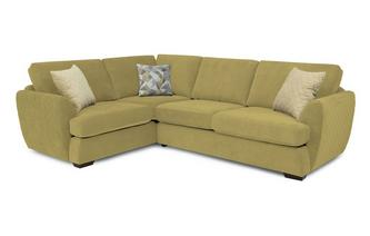 Trilogy Right Hand Facing 2 Seater Deluxe Corner Sofa Bed Sherbet