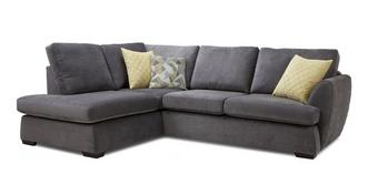 Trilogy Right Hand Facing Arm Open End Deluxe Corner Sofa Bed