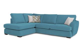 Trilogy Right Hand Facing Arm Open End Deluxe Corner Sofa Bed Sherbet