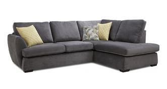 Trilogy Left Hand Facing Arm Open End Deluxe Corner Sofa Bed