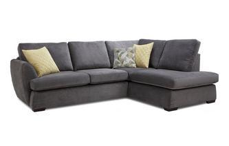 Left Hand Facing Arm Open End Deluxe Corner Sofa Bed Sherbet