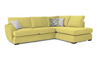 Trilogy Left Hand Facing Arm Open End Deluxe Corner Sofa Bed Sherbet
