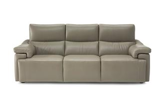 Leather 4 Seater Fixed Sofa