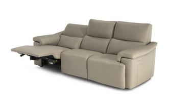 Leather 4 Seater Power Recliner