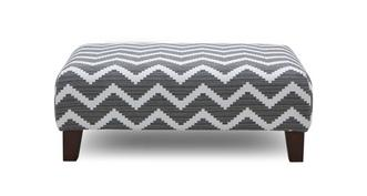 Tryst Pattern Banquette Footstool
